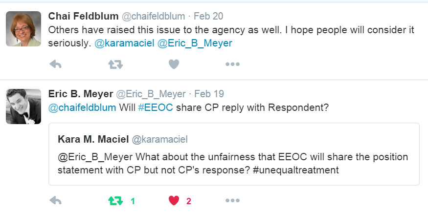 EEOC Will Now Disclose Position Statement and Exhibits to Charging ...