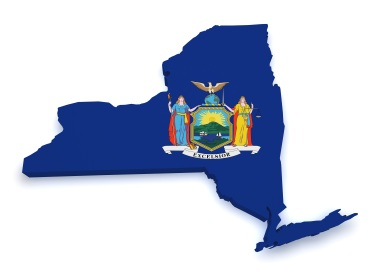 Shape,3d,Of,State,Of,New,York,Map,With,Flag